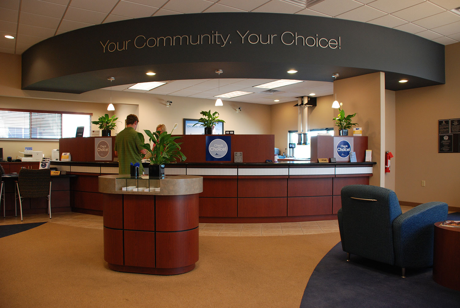 Choice Bank Design Build Lobby